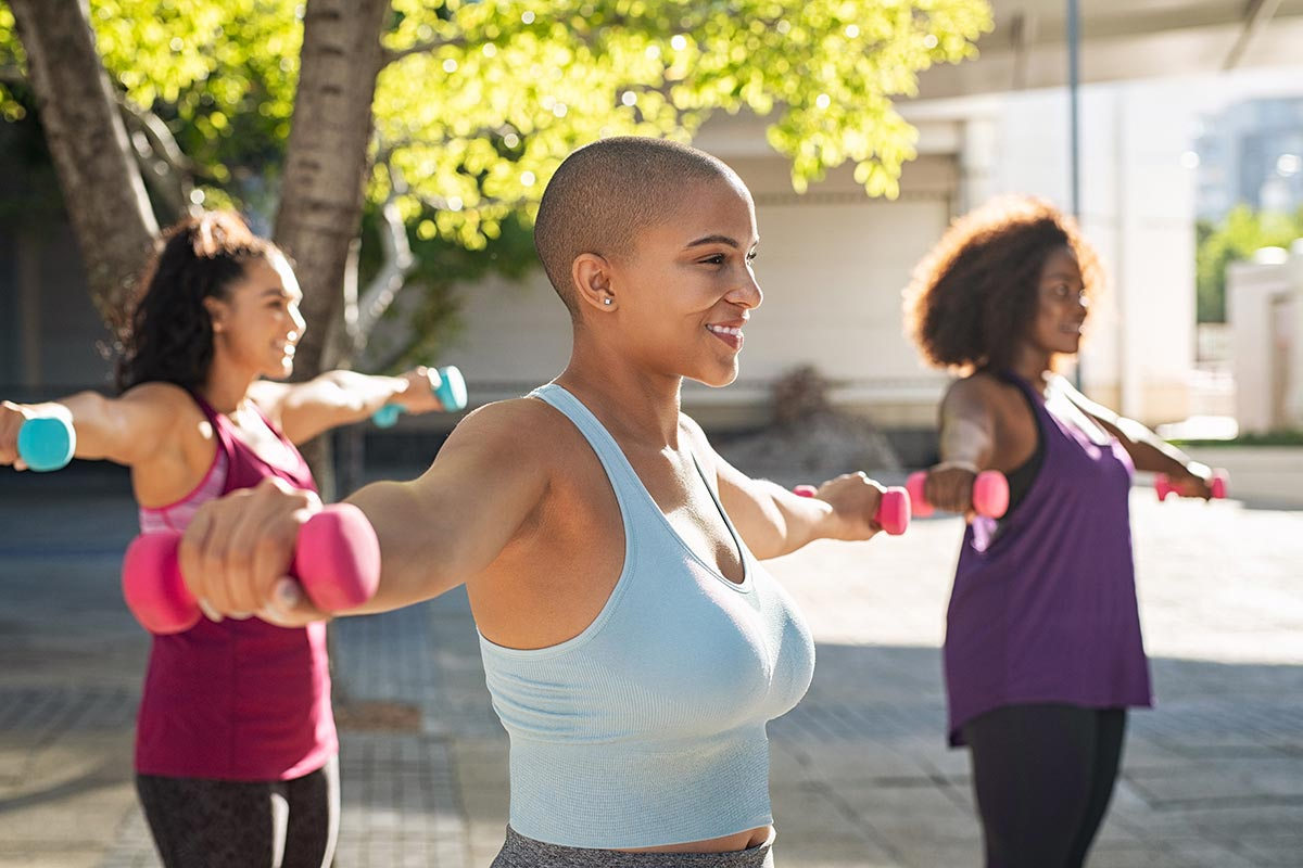 Join one of our safe group classes at the Y